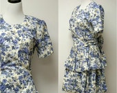 SALE!!! . CHAUNCEY St. . vintage long torso . 3 tier dress . size 9 - 10 . small to medium . made in USA