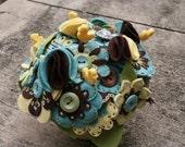 Felt Flower Bouquet Jar