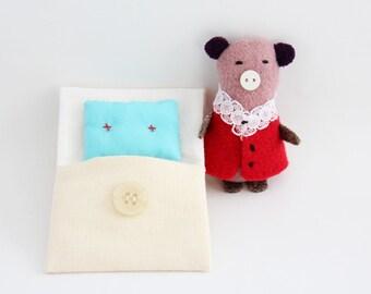 Softie, little beddy-bye - Pink pig