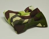 Camouflage Bow Tie, Brown Camouflage, Pistachio, Olive, Camo Bowtie, Boy's Bow Tie, Children's Bowtie, Ring Bearer Outfit, Army Wedding