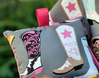 Shopping Cart Cover - Boutique Shopping Cart Cover for Baby Girl  - Luckie Cowboy boots - Square Dancing in Gray Grey