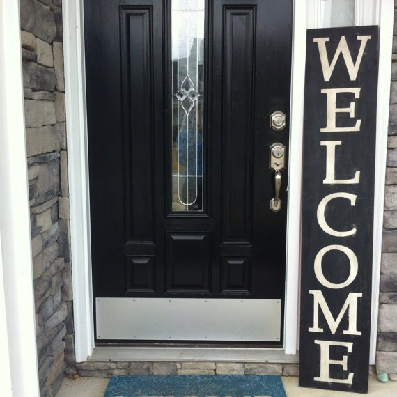 Reversible Front Porch Sign Large Welcome sign Large Christmas Sign Merry Christmas sign