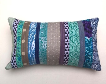 Stock Clearance Bargain - Patchwork Quilted Textile Cushion / Pillow Cover