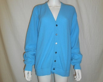 Vintage cardigan sweater, button up sweater, grandpa sweater    size Large