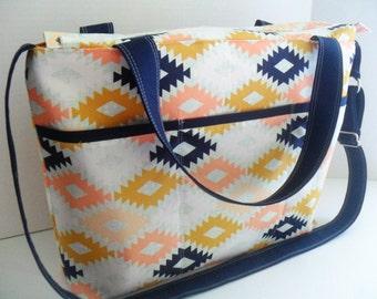 Messenger Bag - Arizona Agave - Zipper Closure -Diaper Bag - Tote Bag - Diaper Bag - Messenger - Crossbody - Laptop Bag - Cross Body