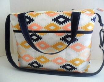 Large Diaper Bag - Arizona Agave - Zipper Closure - Messenger - Diaper Bag