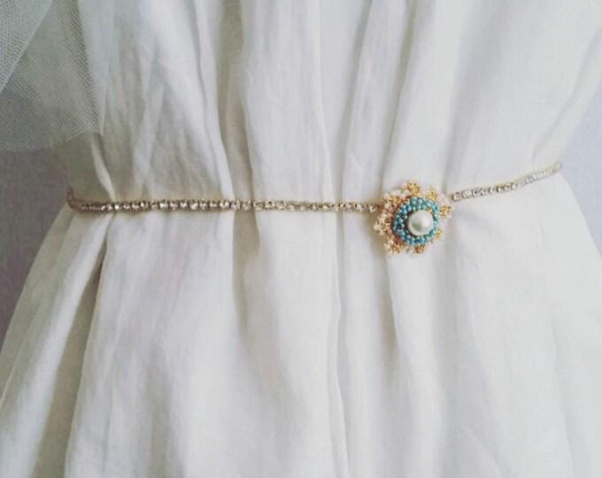 Wedding Belt Gold, Bridal Belt and Sashes, Gold Rhinestone Belt, Wedding Sash Gold, Wedding Sash Vintage,Gold Belt Wedding, Gold Sash Thin