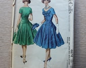 """36"""" Bust - 1950s Sewing Pattern - McCalls 4674 Dress with Petticoat -"""