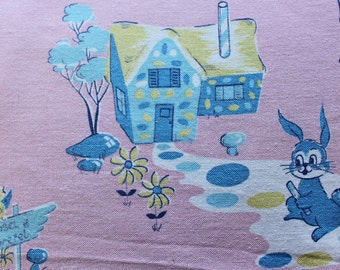 Childrens' Stories - Vintage Fabric - 36x11