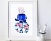 Elephant Decor // Elephant Animal Nursery Art Print // Gender Neutral Kids Room Wall Art // Jungle Safari Theme