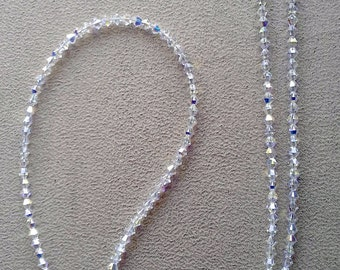 Totally  CRYSTAL EYEGLASS  using only Swarovski Crystals Handmade Chain Holder