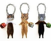 Christmas Cat Ornaments - New for 2015