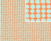 CLEARANCE 1 yards Amy Butler Sunspots in Tangerine