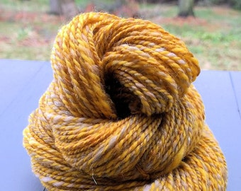 Frippery, handspun wool, bamboo and sparkle yarn, 128 yds/117 m