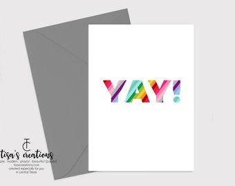 Rainbow Yay Card