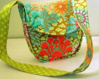 Floral Shoulder Bag With Kaffe Fasset Fabric