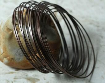 Stacking Bangle, Stackable Bangle, Antique Copper Bangle, Bangle Set, Bangle Blanks, 2 pcs  (item ID FA00023AC)