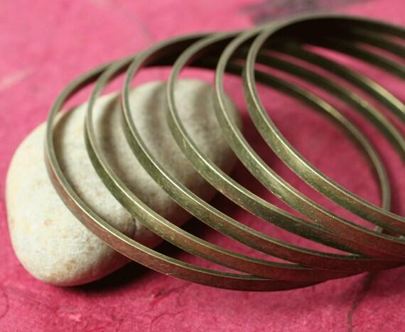 Antique brass stack bangle bracelet blank, one piece (item ID FA01255AB)