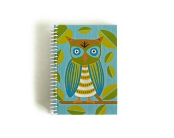 Owl - Notebook Spiral Bound - 4x6in