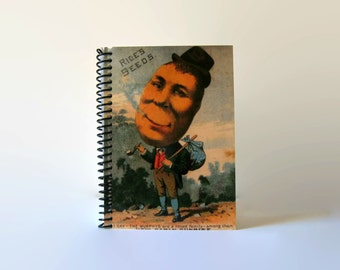 Potato Man Spiral Bound Writing Journal Diary, Back to School 4x6 Inches Notebook, Gifts Under 15, Blank Sketchbook Pocket, Cute A6 Notebook