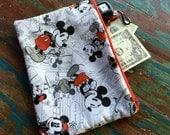 medium zipper pouch mickey mouse
