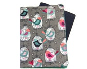 Bird Cages on Grey Passport Cover/Holder/Wallet