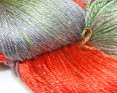 LONELY SKEIN 'sale' HIBISCUS in Hand Dyed Poet Seat Fingering Weight Superwash Merino and Silk Yarn