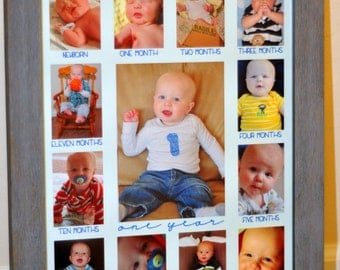Baby's First Year photo mat 12 x 16-One Year 5x7