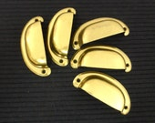 Bin Pulls Brass New Old Stock Shell or Clam Pulls Furniture Drawer Pulls
