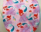 Youth/Junior Bib - Girl- Special Needs, Cerebral Palsy, Epilepsy, Seizures, Drooling, Retts, 14-inch Neck Opening: Little Mermaid/Arielle