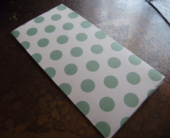 Forest Polka Dots Traveler's Journal 2 Pocket Folder-Regular/Large