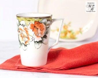 Nippon Art Deco Cup, Lemonade Cup, Nippon Mug, E OH Nippon, Made in Japan