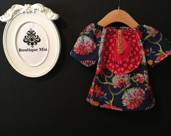 Will fit Size 3-6 month up to a 12-18 month - Ready to MAIL - Aline Mini Dress or Top - Chinese Birthday - by Boutique Mia