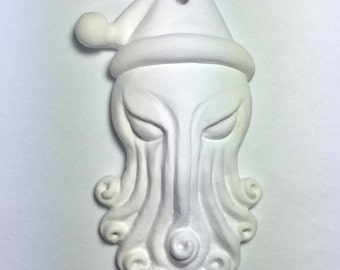 Paint-Your-Own Santa Cthulhu Ornament