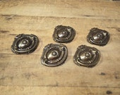 Free Shipping Lot of 5 Fabulous vintage oval at drawer pulls  hardware for restoration cabinet or dresser
