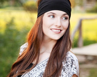 Black Headband, Black Head Band, Black Hairband, Black Hair Band, Stretchy Black Headband, Stretchy Black Head Band, Basic Headband, Solid