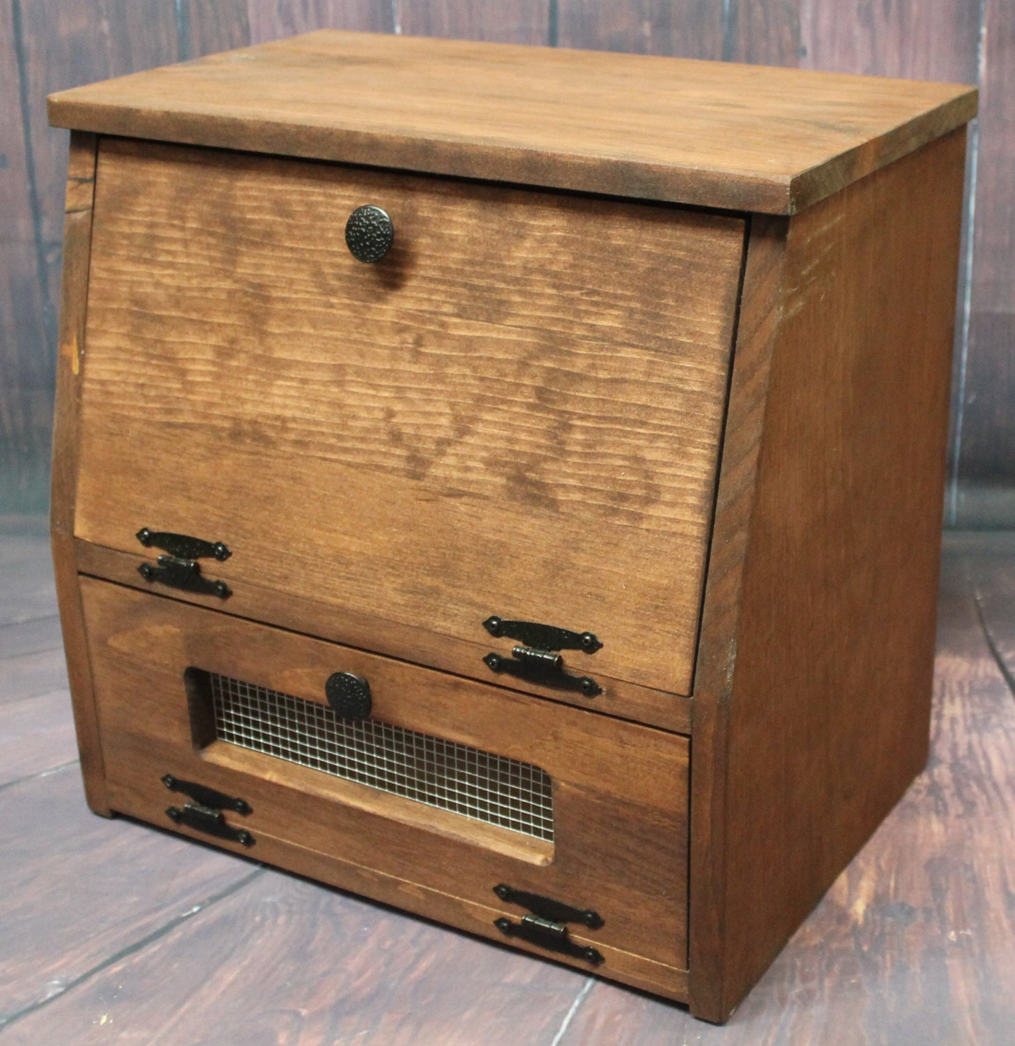wooden bread box kitchen storage wood vegetable potato bin zoom