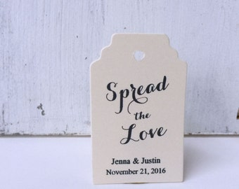 Jam Jar Favor Tag - Wedding Favor Tag - Spread the Love Favor Tag - Mason Jar Favor Tag - Wedding Gift Tag - Thank You Tag - Party Favor Tag