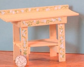 Miniature wooden potting bench, painted