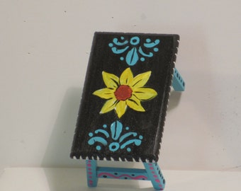 Minaiture hand painted wooden table in the mexican style