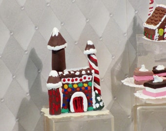 Miniature gingerbread Castle for Christmas