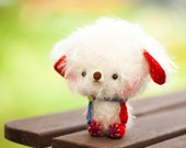 Plushie bear softie toy, blythe pet - made to order - Fuzzy Rupert -