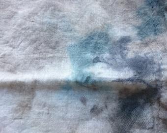 Original, distressed, cotton urban art bag OOAK