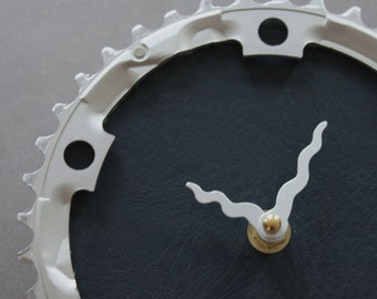 Bicycle Gear Clock - Simple Navy  |  Bike Clock  | Wall Clock | Recycled Bike Parts Clock