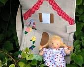 Waldorf Dollhouse: Take along Fabric Dollhouse with Doll