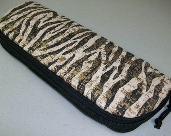 Flat Iron Bag - Tiger Stripe with Gold Accents