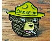 SMOKE UP! - Enamel Pin by Print Mafia®
