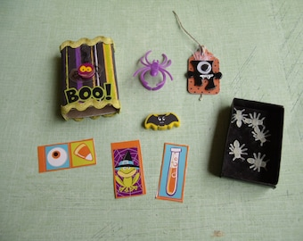 BOO! Say's the Spider  Halloween Matchbox with Goodies