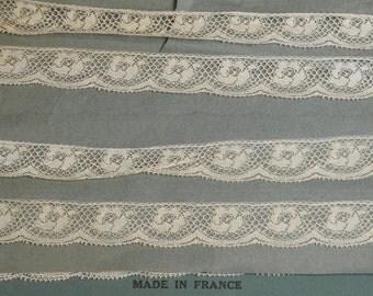 3 yds Vintage French Lace Trim Yardage Supply