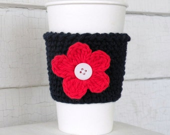 July 4th Red, White and Blue Patriotic Coffee Takeout Cup Sleeve Cozy